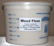 Wood Flour 5 Quarts - 2  (Two 5qt containers)