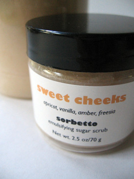 Sweet Cheeks Sorbetto Emulsifying Sugar Scrub SAMPLE SIZE - Apricot, Vanilla, Amber, Freesia... Original Formula
