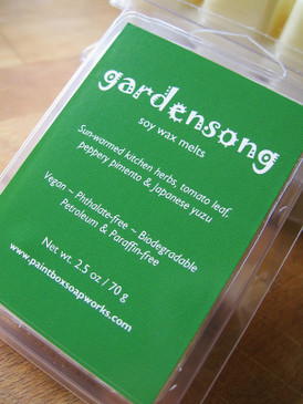 Gardensong Soy Wax Melts - Sun Warmed Herbs, Tomato Leaf, Pimento, Yuzu... Limited Edition