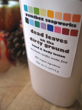 Dead Leaves on the Dirty Ground Organic Hand and Body Lotion - Dry Leaves, Bonfire Smoke, Frost... Limited Edition