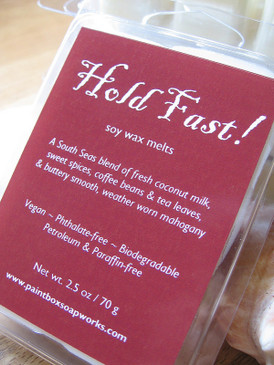 Hold Fast! Soy Wax Melts - Coconut Milk, Spices, Coffee, Tea, Mahogany... Summer Limited Edition