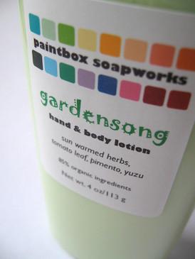 Gardensong Organic Hand and Body Lotion - Sun Warmed Herbs, Tomato Leaf, Pimento, Yuzu... Summer Limited Edition