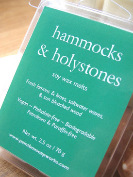 Hammocks & Holystones Soy Wax Melts - Lime, Lemon, Salt Water, Sun Bleached Wood... Summer Limited Edition