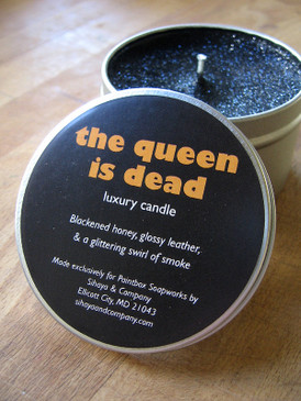 The Queen is Dead Luxury Candle - Honey, Leather, Incense Smoke... Limited Edition