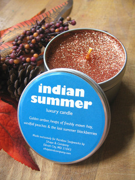 Indian Summer Luxury Candle - Amber, Fresh Hay, Ripe Peaches, Blackberries... Weenie Limited Edition