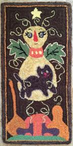 Punch hooked wool rug yarns. Ann Herrick ,Bennington, Vermont