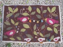 Punch hooked by Blandine Delepine.  She lives and teaches punch needle and traditional rug hooking in Belgium.