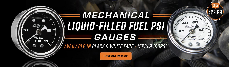 Liquid Filled Mechanical Fuel Pressure Gauges