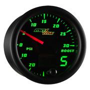 Black & Green MaxTow Diesel Gauge Series