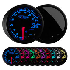 Elite 10 Color 100 PSI Fuel Pressure Gauge