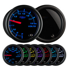 Tinted 7 Color Volt Gauge