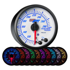 White Elite 10 Color Water Temperature Gauge