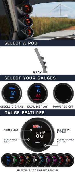 06-11 Honda Civic 2 Door Custom Digital Gauge Package Main