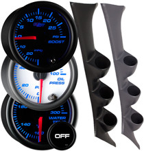 1995-1999 Mitsubishi Eclipse Custom 7 Color Gauge Package Gallery