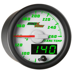 White & Green MaxTow Transmission Temperature Gauge