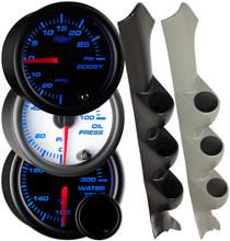 7 Color Series Triple Gauge Package for 2002-2007 Subaru Impreza WRX
