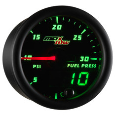 Black & Green MaxTow 30 PSI Fuel Pressure Gauge