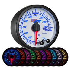 White Elite 10 Color Transmission Temperature Gauge