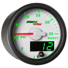 White & Green MaxTow 35 PSI Boost Gauge