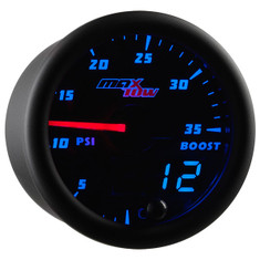 Black & Blue MaxTow 35 PSI Boost Gauge