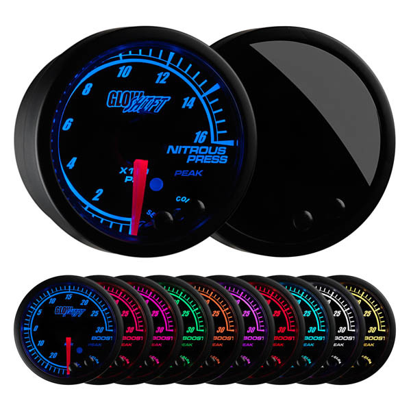 Elite 10 Color 1600 PSI Nitrous NOS Pressure Gauge