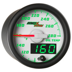 White & Green MaxTow Oil Temperature Gauge