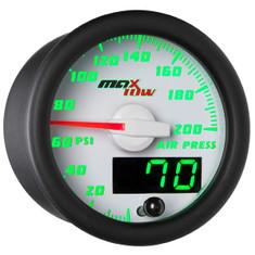 White & Green MaxTow 200 PSI Air Pressure Gauge
