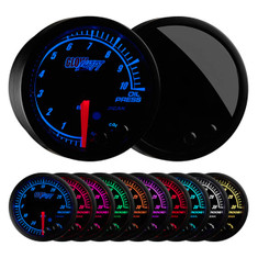 Elite 10 Color BAR Oil Pressure Gauge