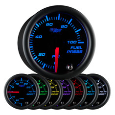Black 7 Color 100 PSI Fuel Pressure Gauge
