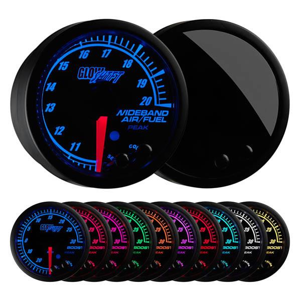 glowshift elite 10 color series wideband air fuel ratio gauge rh glowshiftdirect com GlowShift Fuel Pressure Gauge Install Volt Gauge Wiring Diagram
