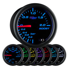 Black 7 Color BAR Boost Gauge
