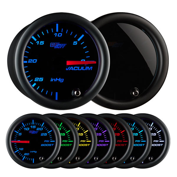 Tinted 7 Color Vacuum Gauge