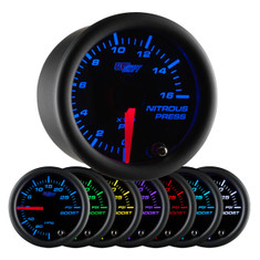 Black 7 Color Nitrous Pressure Gauge