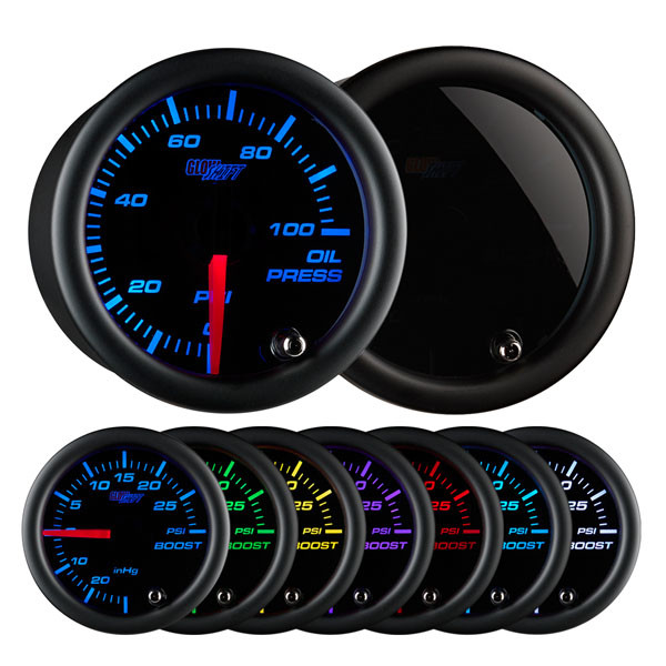 Tinted7_OilPress_Main_1__22792.1491422851.600.600?c=2 glowshift tinted 7 color oil pressure gauge Electric Speedometer Gauge Wiring Diagram at crackthecode.co
