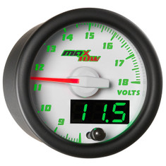 White & Green MaxTow Volt Gauge