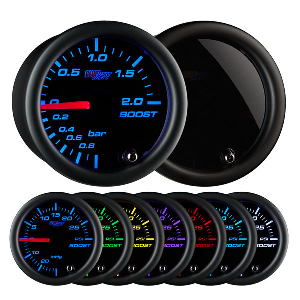 Tinted 7 Color BAR Boost Gauge