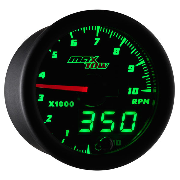 Black Green Maxtow Tachometer Gauge: 2 Inch Tachometer Wiring Diagram At Satuska.co