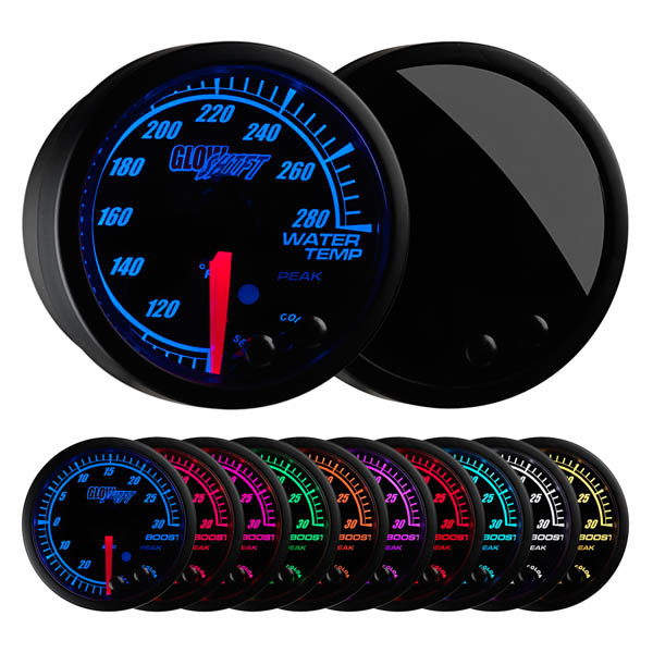 Elite 10 Color Water Temperature Gauge