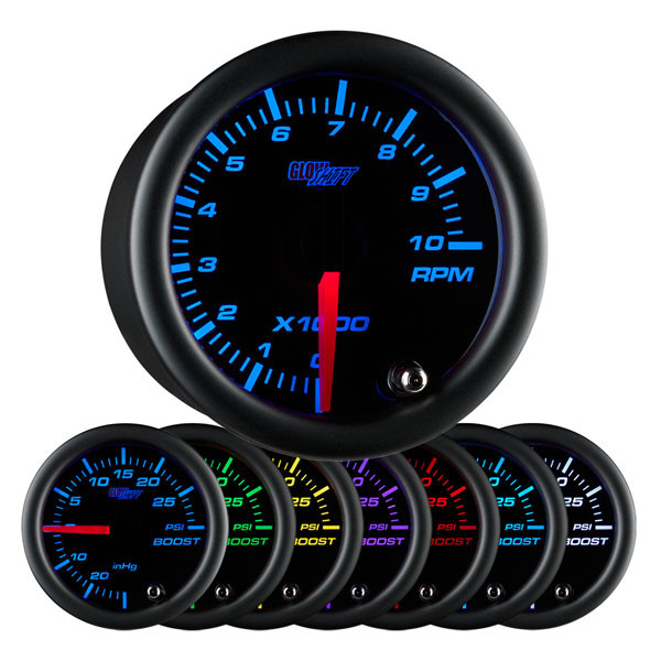 Glowshift black 7 color 2 tachometer gauge black 7 color 2 tachometer gauge sciox Choice Image