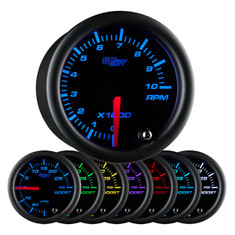 "Black 7 Color 2"" Tachometer Gauge"