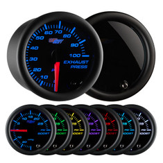 Tinted 7 Color 100 PSI Exhaust Pressure Gauge