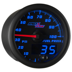 Black & Blue MaxTow 100 PSI Fuel Pressure Gauge