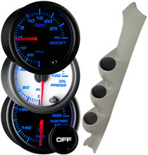 2002-2007 Subaru Impreza WRX RHD Custom 7 Color Gauge Package Gallery