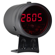 Black Digital Tachometer & Red LED Shift Light