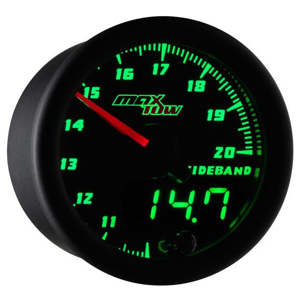 Black & Green MaxTow Wideband Air/Fuel Ratio Gauge
