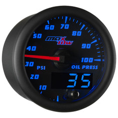 Black & Blue MaxTow Oil Pressure Gauge