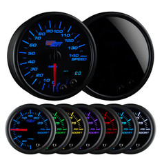Tinted 7 Color 3 3/4 In Dash Speedometer Gauge