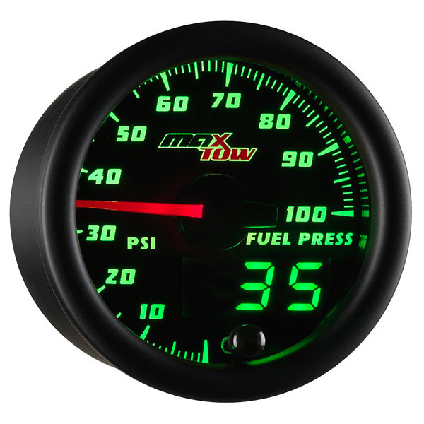 Black & Green MaxTow 100 PSI Fuel Pressure Gauge