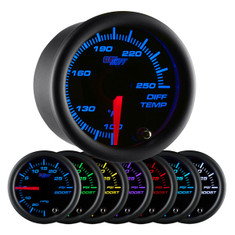 Black 7 Color Differential Temperature Gauge