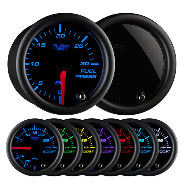 Tinted 7 Color 30 PSI Fuel Pressure Gauge